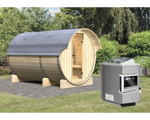 Sauna tonneau Calienta Sodalith III avec poêle 9 kW et commande externe