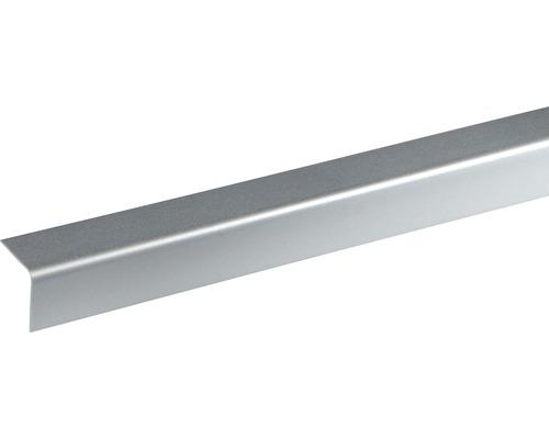 Baguette d''angle en plastique décor alu 20x20x2400 mm