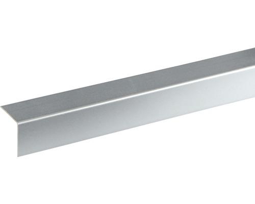 Baguette d''angle en plastique décor alu 25x25x2400 mm