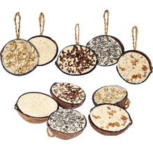 Ganzjahresvogelfutter 10 x 1/2-Kokosnüsse, 5 verschiedene Sorten-thumb-0