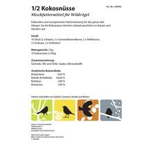 Ganzjahresvogelfutter 10 x 1/2-Kokosnüsse, 5 verschiedene Sorten-thumb-8