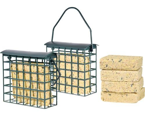 Nourriture toute saison, 6 blocs de graisse avec deux distributeurs 1,8 kg