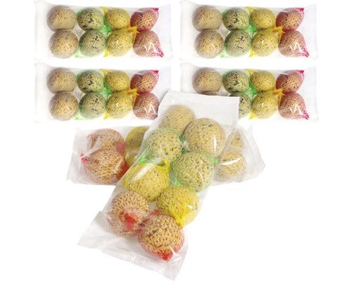 Nourriture toute saison, boules de graisse 48 unités 4 variétés différentes 4,1 kg