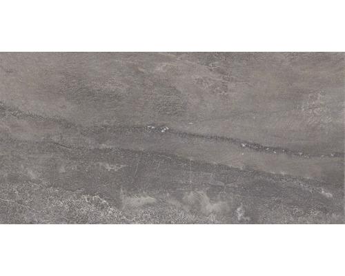 Carrelage pour sol en grès cérame fin Arrow anthracite 31x62 cm