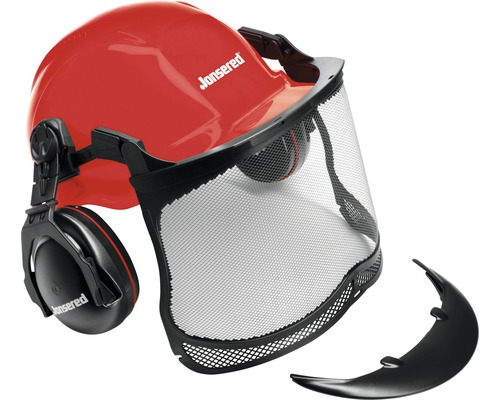 Casque de protection forestier Jonsered rouge