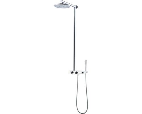 Système de douche AVITAL Tirino chrome avec tablette verre