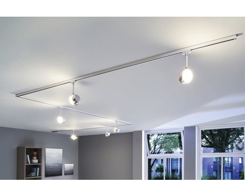 Spot LED URail Paulmann 1x6W 315 lm 2.700 K blanc chaud Capsule II chrome mat 230V