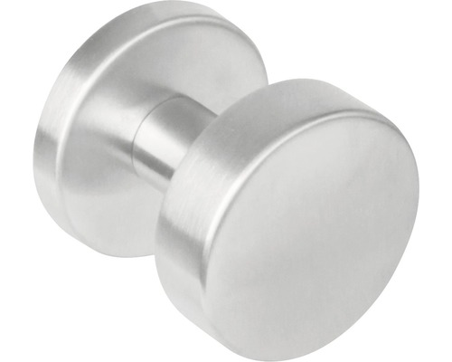 Bouton de porte central rond acier inoxydable pour poignée de rechange Ø 53mm 1 pièce