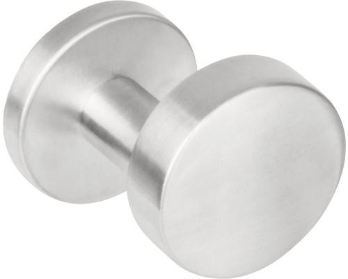Bouton de porte coudé rond acier inoxydable Ø 53 mm 1 pièce