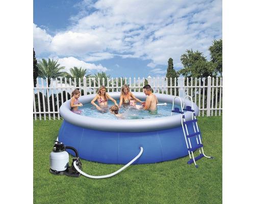 Kit de piscine ronde à pose rapide Bestway Fast-Set Ø 366cm, hauteur 91cm-0