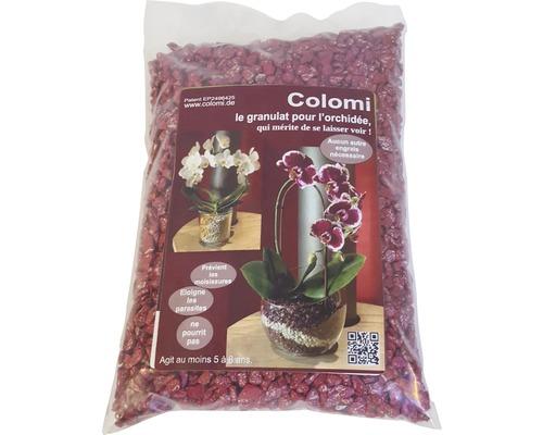 Granulat pour orchidées Colomi 1 L rouge