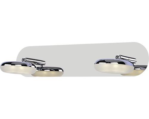 Applique murale LED Ohio chrome/ blanc avec 2 ampoules 2x500 lm 4000 K blanc neutre L 330 mm