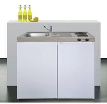 Kitchenette stengel Easyline ME100, largeur 100 cm, blanc brillant-thumb-0