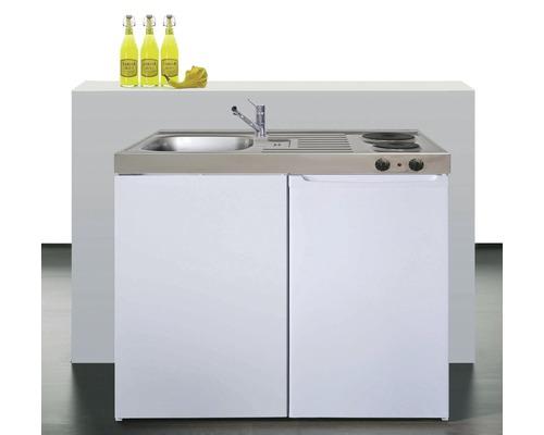 Kitchenette stengel Easyline ME100, largeur 100 cm, blanc brillant
