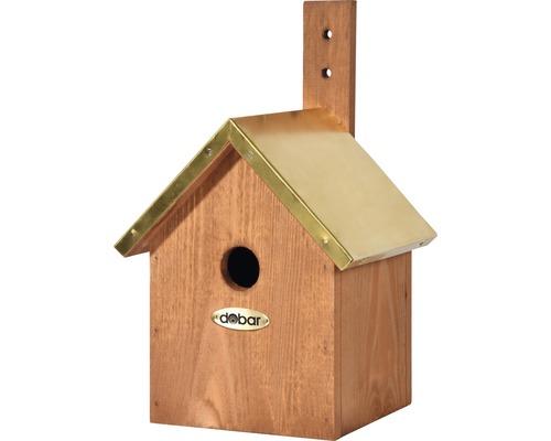Nichoir avec toit en cuivre 19x18x31cm