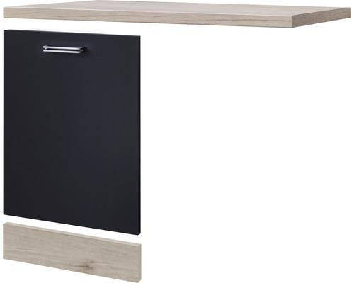 Façade pour lave-vaisselle Santo largeur 110 cm anthracite
