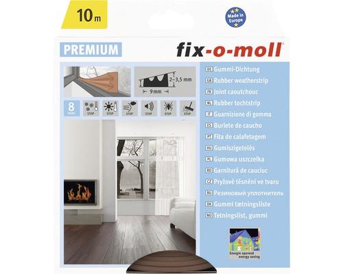 E-Profildichtung fix-o-moll selbstklebend braun 10 m 4 x 9 mm