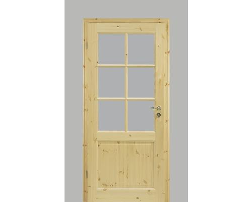 Porte intérieure Pertura Fengur style maison de campagne pin 86,0x198,5 cm tirant gauche 02/SP6 (sans vitrage)