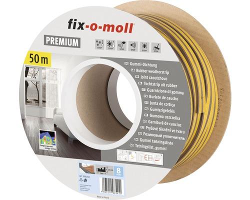 E-Profildichtung fix-o-moll selbstklebend braun 50 m 4 x 9 mm