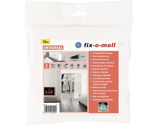 Schaumstoffdichtung fix-o-moll selbstklebend weiß 10 m 6 x 10 mm