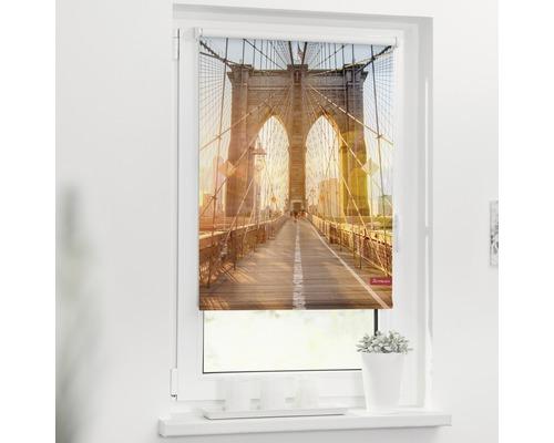 Store à clipser Lichtblick sans vissage Brooklyn Bridge 45x150 cm, supports de serrage compris