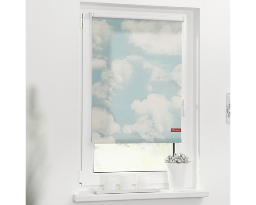 Store à clipser Lichtblick sans vissage nuages 45x150 cm, supports de serrage compris