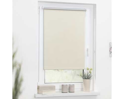 Store à clipser Lichtblick Thermo sans vissage crème 45x150 cm, supports de serrage compris