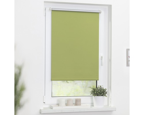 Store à clipser Lichtblick Thermo sans vissage vert 45x150 cm, supports de serrage compris
