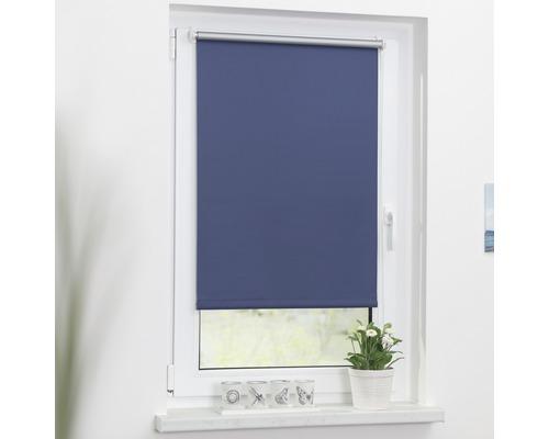 Store à clipser Lichtblick Thermo sans vissage bleu 45x150 cm, supports de serrage compris