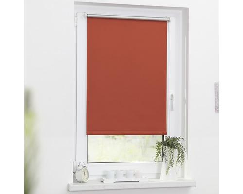 Store à clipser Lichtblick Thermo sans vissage terracotta 45x150 cm, supports de serrage compris