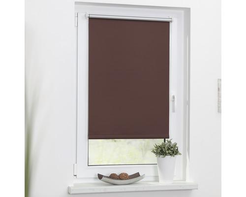Store à clipser Lichtblick Thermo sans vissage marron 45x150 cm, supports de serrage compris