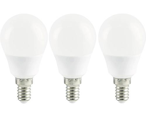 Ampoule sphérique LED blanc E14/3,6W(25W) 250 lm 2700 K, blanc chaud, 3 pièces
