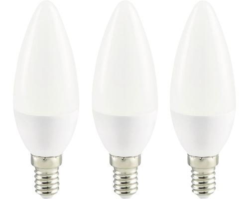 Ampoule flamme LED blanc E14/3,6W(25W) 250 lm 2700 K, blanc chaud, 3 pièces
