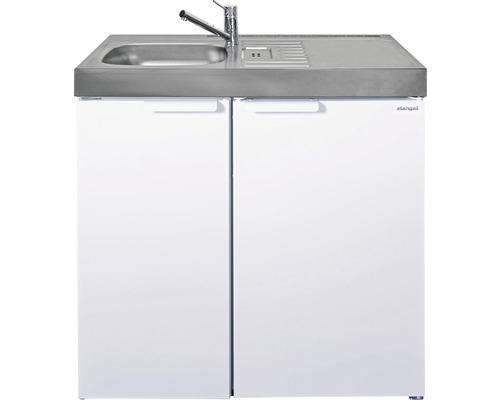 Mini-cuisine stengel Kitchenline MK90, largeur 90 cm, bac à gauche blanc brillant 1109000006100