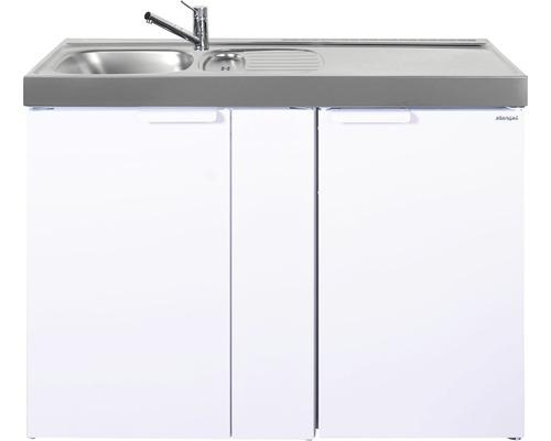 Mini-cuisine stengel Kitchenline MK120, largeur 120 cm, bac à gauche blanc brillant 1112000106100