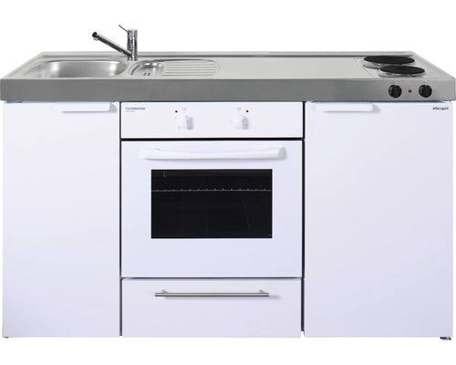Mini-cuisine stengel Kitchenline MKB150, largeur 150 cm bac à gauche, blanc brillant 1115000502100