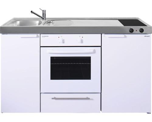 Mini-cuisine stengel Kitchenline MKB150, largeur 150 cm bac à gauche, blanc brillant 1115000504100