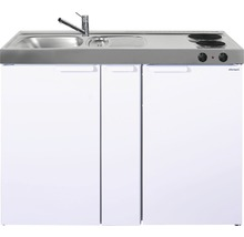 Mini-cuisine stengel Kitchenline MK120A, largeur 120 cm, bac à gauche, blanc brillant 1112000202100-thumb-0
