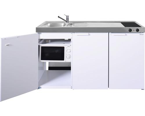Mini-cuisine stengel Kitchenline MKM150, largeur 150 cm, bac à gauche blanc brillant 1115001004100