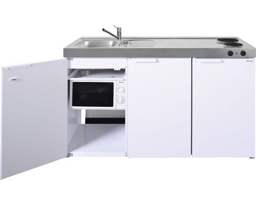 Mini-cuisine stengel Kitchenline MKM150, largeur 150 cm, bac à gauche blanc brillant 1115001002100