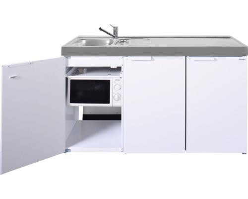 Mini-cuisine stengel Kitchenline MKM150, largeur 150 cm, bac à gauche blanc brillant 1115001006100