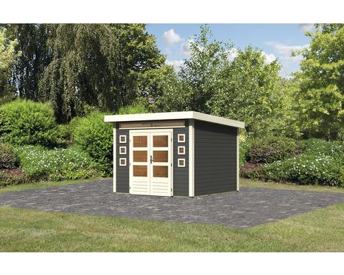 Abri de jardin Konsta Landau 6 274x274cm gris terre cuite