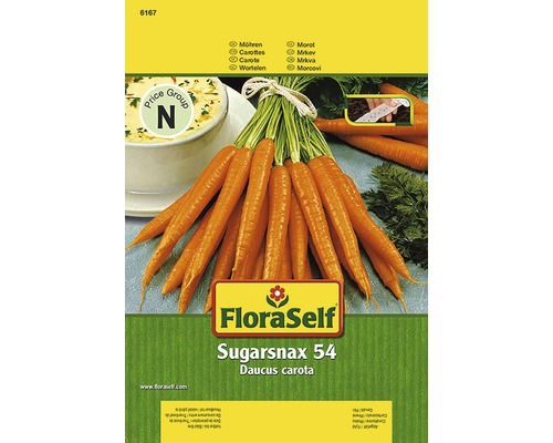 Carottes ''Sugarnax 54 F1'' FloraSelf semences de légumes