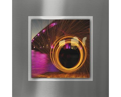 Tableau en métal Colourful Circle I 50x50 cm
