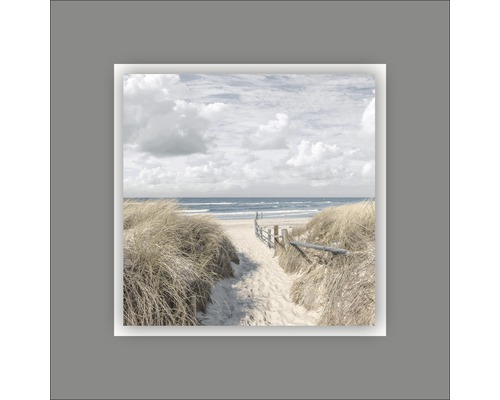 Tableau en métal Beach I 50x50 cm