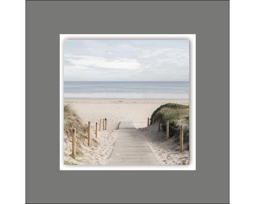 Tableau en métal Beach II 50x50 cm