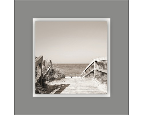 Tableau en métal Beach V 50x50 cm