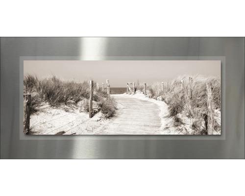 Tableau en métal Beach III 50x100 cm