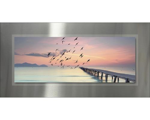 Tableau en métal Beach II 50x100 cm