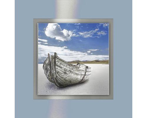 Tableau en métal Boat 50x50 cm